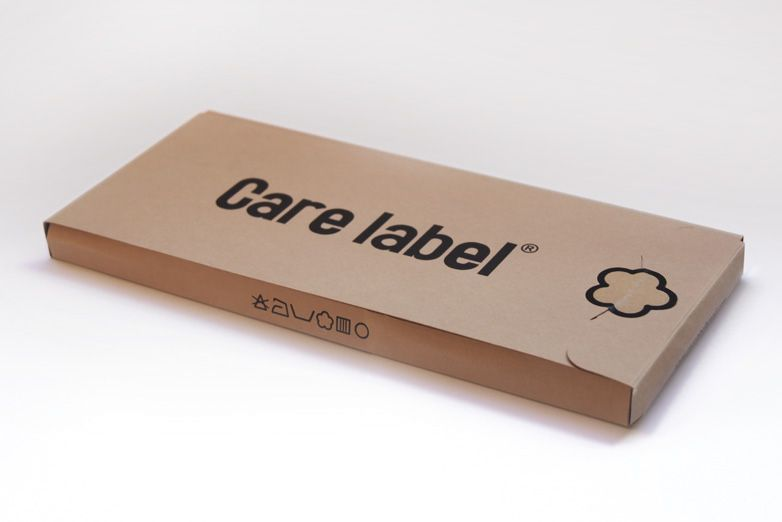 Gatefold Care label
